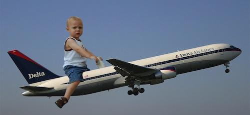 Secciones especiales para niños en los aviones