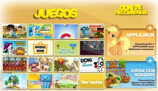 Sitios web con actividades para los niños