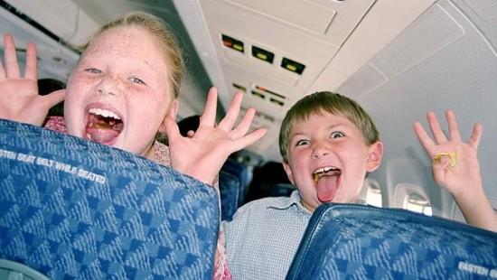 Una sección especial para niños en los aviones