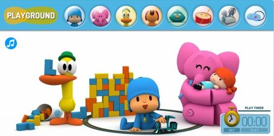 pocoyo, sitios web con actividades para niños